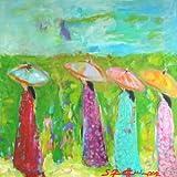 "Sibylle Rettenmaier "" DER MEDITATIONSWEG"" Original Kunst – Leinwandbild - handgemaltes Unikat in Acryl – Moderne Kunst –Abstraktes Frauenporträt – Frauengruppe 160 x 120 cm"