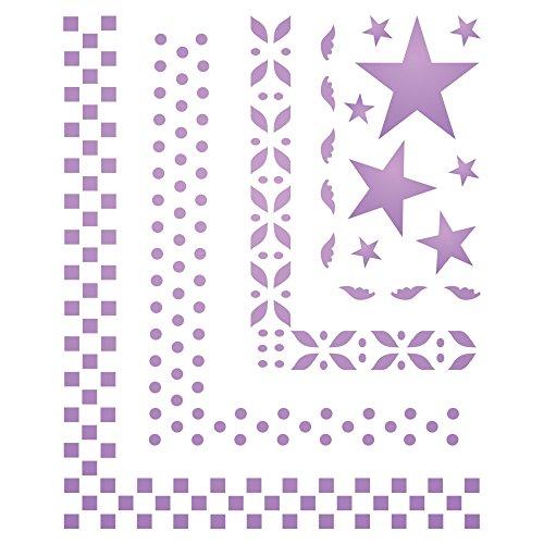 wiederverwendbare kleine geometrische Bordüren, Sterne Wandschablone L ()