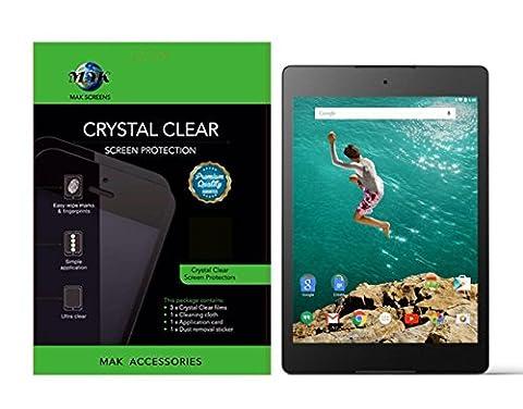 Google HTC Nexus 9 protection écran Protecteur d'écran MAK® Premium HD Effacer Version (PACK DE