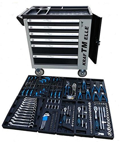 Carro de herramientas de taller profesional con puerta lateral y 155 pzs herramientas reales incorporadas...