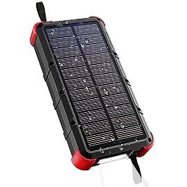 OUTXE Powerbank Solare Impermeabile 25000mAh Ricarica Rapida Batteria Esterna