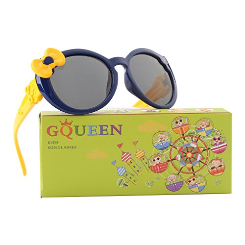 GQUEEN Cute Rubber Flexible Kids Polarized Sunglasses for Boys Girls Baby and Children Age 3-10,ET60