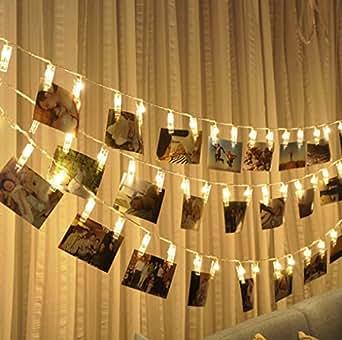 FAPPY–2.2M Foto LED-Lichterketten kreative Lampe Clip Flash-Foto-Wanddekoration Lampe,Geburtstag,Valentinstag,Partybeleuchtung Warme Weiße