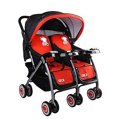 Doble Cochecito De Bebé Plegable Diseño Cesta De Almacenamiento Con Y Placa