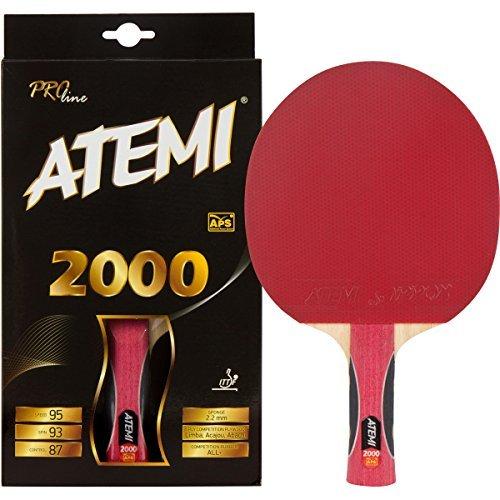 Atemi 2000 Pro Line Wettkampf Tischtennisschläger ITTF Zugelassen - Der Leichteste Seiner Klasse (Anatomisch)