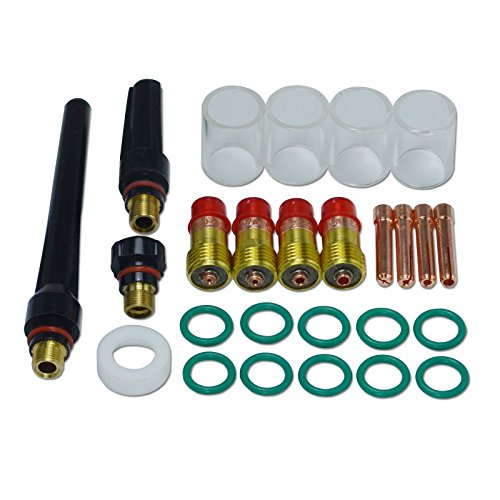 WIG Stubby Gas Objektiv Kits # 10 Pyrex Cup Kit DB SR WP 17 18 26 WIG Schweißbrenner 26St