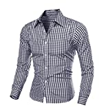 Internet Men Winter Long Sleeved Plaid Self Cultivation Shirt Top Blouse