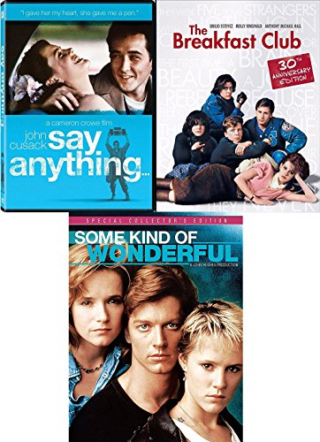 Club 80's Pack: Say Anything... / Breakfast Club / Some Kind of Wonderful 3 Movie Teen Bundle Triple Feature