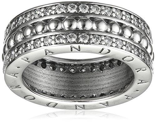Pandora anillos Mujer plata 9 k (375) circón