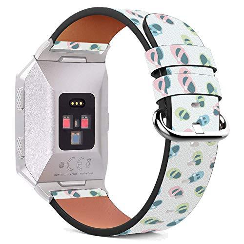 it Ionic 44mm / 42mm Armbänder Uhrenarmband Ersatz Lederarmband mit integriertem Armband Adaptors - Süße Baby-Hausschuhe ()