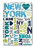 Collegetimer Pocket New York 2015/2016 - Schülerkalender A6 - Day By Day - 352 Seiten