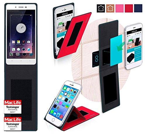 reboon Hülle für Oppo Mirror 5 Tasche Cover Case Bumper | Rot | Testsieger