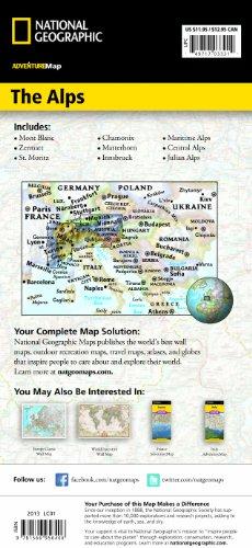 The Alps : 1/600 000 (Adventure map)