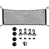 Maxtuf Cargo-Netz, 60 x 120 cm, verstellbar, elastisch, Kofferraum-Organizer, Nylon-Netz, für SUV, Lkw-Bett, Pickup, mit nützlichen Haken zum Befestigen ohne Sucherei