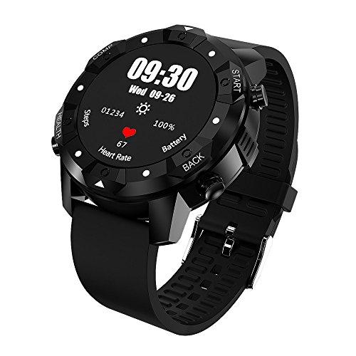Vovotrade Bluetooth WiFi GPS 3G Android 5.1 Smart Watch Quad-Core SIM Phone da 1 GB + 16 GB (A, Nero)