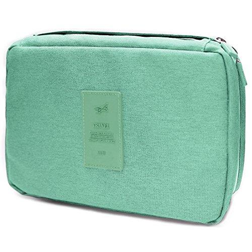Kulturbeutel für Damen und Herren, Airlab Kosmetiktasche Kulturtasche zum Aufhängen, Wasserabweisend, Mintgrün