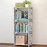 Deesjue Kinder Bücherregal Einfache zusammengebaute Spielzeug-Buchablage Pond Lotus 4L