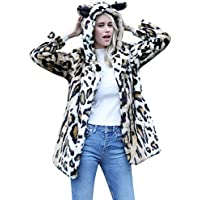 Geili Damen Wintermantel Wollmantel Warme Leopard Muster Kunstpelz Wolljacke mit Katzenohr Kapuzen Damenjacke... preisvergleich bei billige-tabletten.eu