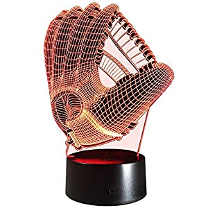 InnoWill Baseball Handschuhe Geschenk LED Lampe USB und Batteriebetriebene...