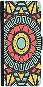 Snoogg AZTEC TARGET VISION Graphic Snap On Hard Back Leather + PC Flip Cover LG Nexus 5