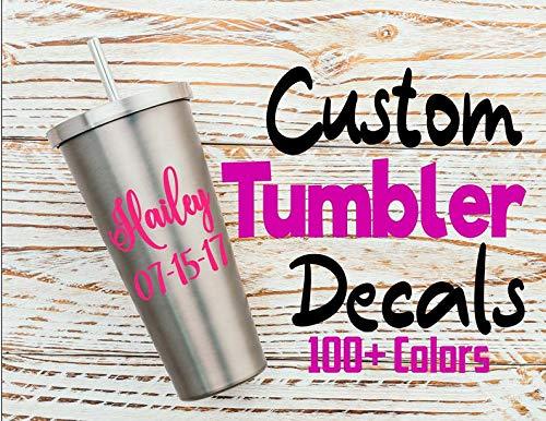 Canyay Custom Tumbler Decals Bachelorette Party Custom Decal Sticker Hochzeit Decals Tumbler Becher Decals Wine Tumbler Decals
