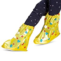 Tasquite Waterproof Reusable Warm Rain Shoe Covers with Anti-Dirty Full Protection Overshoes Designed for Kids