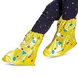 LinHut Copriscarpe Universale Copriscarpe Impermeabili riutilizzabili per la Pioggia Calda con sovrascarpe Anti-Sporco a Protezione Totale Ideato per i Bambini Protezione delle Scarpe