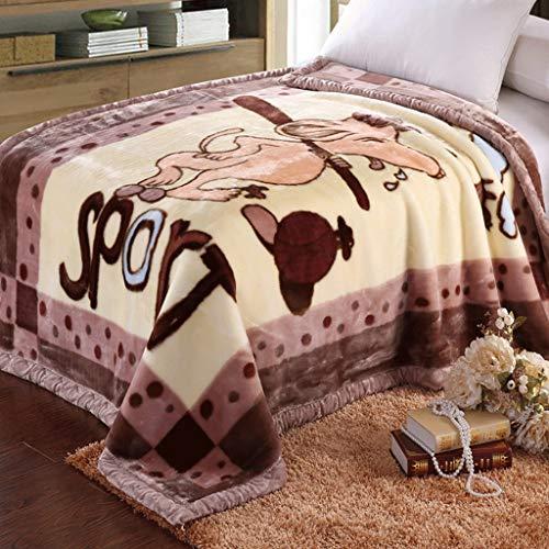 hel-Decke, Winter Large, Leichter Plüsch, Microfiber Solid Blanket Bettwäsche, Double-Layer-Größe, Dicke Decke Dicke Quilt, DREI Farben (Farbe : Snoopy) ()