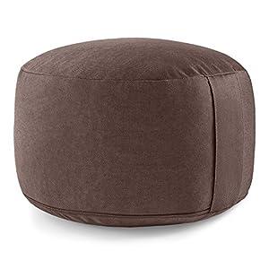 Lotuscrafts Meditationskissen/Yogakissen Lotus – extra hoch (20 cm) – Yoga Sitzkissen mit Dinkelfüllung (Dinkelspelz) – waschbarer Bezug aus Baumwolle (KBA) – GOTS Zertifiziert