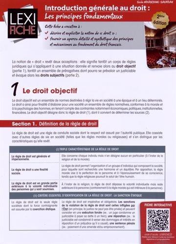 Introduction générale au droit : Les principes fondamentaux par Saïda Nouredine-Safatian