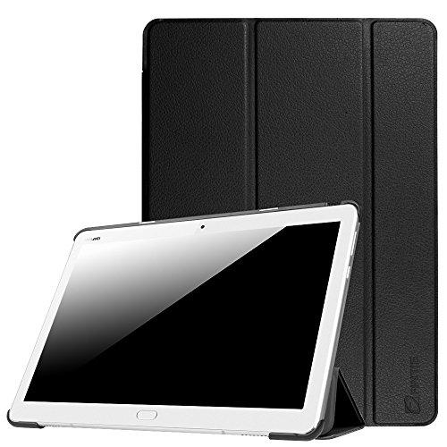 Fintie Huawei Mediapad M3 Lite 10 Hülle - Ultra Dünn Superleicht SlimShell Case Cover Schutzhülle Etui Tasche mit Zwei Einstellbarem Standfunktion für Huawei Mediapad M3 Lite 10 Zoll, Schwarz