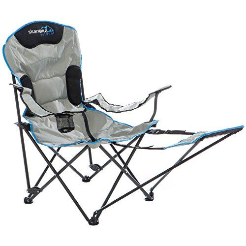 skandika silla de camping Relax - plegable - armazón de acero - peso máx. del usuario 130 kg - portabebidas