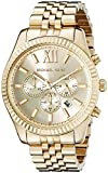 Michael Kors Men's MK8281 Quatrz Stainless Steel Lexington Gold Watch Bild
