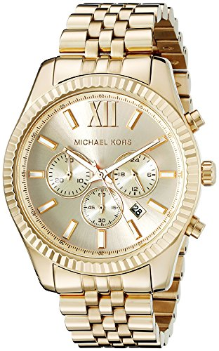 Michael Kors MK8281 - Reloj de cuarzo con correa de acero inoxidable para hombre, color dorado