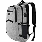 Anti-Theft Backpack, Business Laptop Rucksack with USB Charging Port, Slim Lightweight School Bag for Boys Girls Fits 15.6-Inch Computer Notebook Daypack for Work, College Men Women
