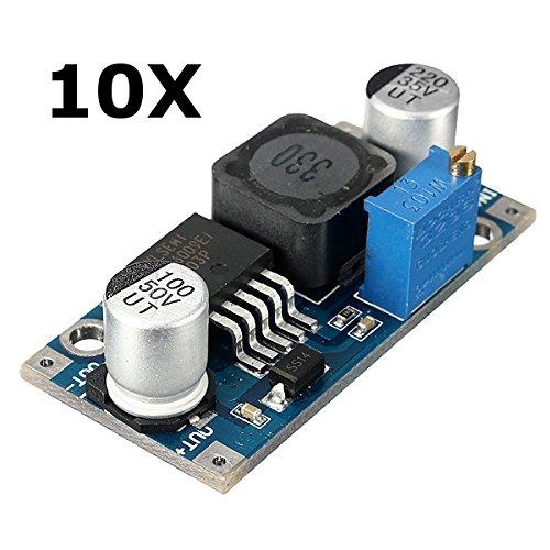 LaDicha 10Pcs 3A Xl6009 Dc-Dc 50Khz Réglable Step Up Module De Convertisseur De Puissance