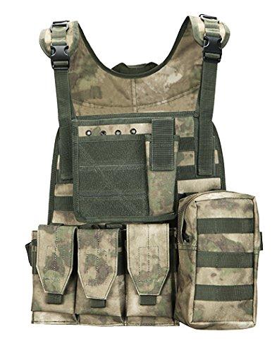 ThreeH Gilet tactique multifonctionnel Jeu de paintball Gilet de tir Équipement de corps protecteur extérieur pour CS SA0102A