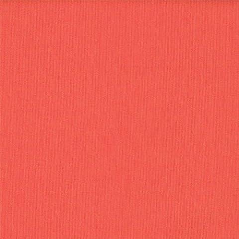 58 Corallish Ponte Roma Solid Knit Fabric, Fabric by the yard - 1 Yard by Stylishfabric