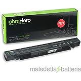 Batería OhmHero de 2600mAh Reales, 14,4V para Portátil Asus A450, 450VB, A550, R510, X450, X452, X550, F450, 550L, F550, F552, K450, K550, P450, P550, R409