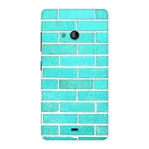 Special Brick Cyan Back Case Cover for Lumia 540