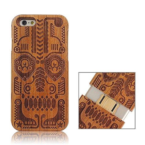 Pour IPhone 6 & 6S UK Flag Pattern Case en bois séparable JING ( SKU : S-IP6G-0336Q ) S-IP6G-0336G