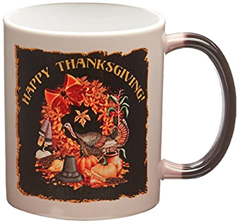 3dRose mug_11684-3 Thanksgiving Featuring a Wild Turkey Native American and