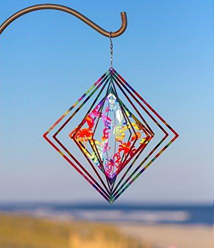 Dawhud Direct Kinetic 3D Schmetterling Metall Garten Wind Spinner -