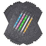 Vitasemcepli Carta Carbon 100 fogli Carta Copiativa Riutilizzabile Formato 21,9 x 33 cm per Ricalcare e Copiare Soggetti sul Legno/Metallo/Ceramica/Argilla/Gesso (Include 5 Strumenti di colorazioni)