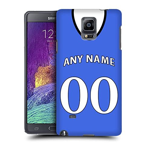 Case Fun Case Fun Personalised Chelsea Football Shirt, Any Name, Any Number Snap-on Hard Back Case Cover for Samsung Galaxy Note 4