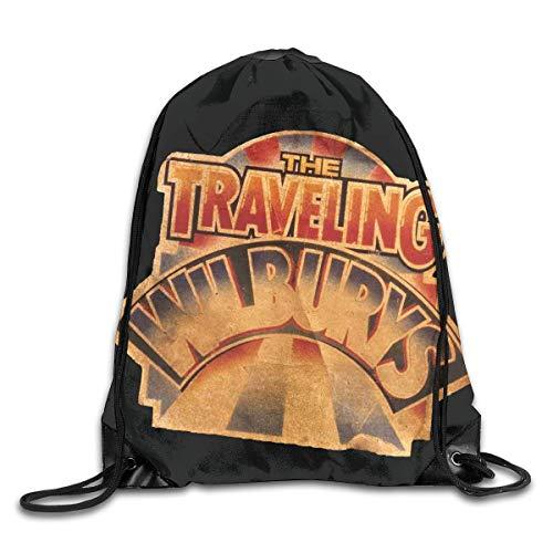 LINGJIE Lightweight Foldable Large Capacity Traveling Wilburys Collection Backpack  Gymsack Drawstring Bags ort Bag for Men 02d6fec843