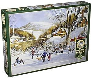 Cobblehill 80059 - Puzzle de 1000 Piezas, diseño de Hockey sobre el Lago Frozen