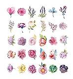 Bunte Blumen geformte Postkarten Blumen-Motiv-Postkarte 30pcs