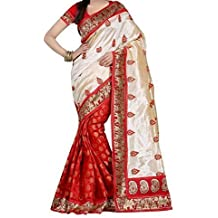 Saree(Shreeji Ethnic Saree For Women Party Wear Half Multi Colour Printed Sarees Offer Designer Below 500 Rupees Latest Design Under 300 Combo Art Silk New Collection 2018 In Latest With Designer Blouse Beautiful Design With Blouse Material