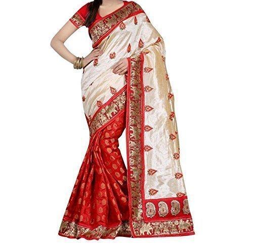 Saree(Shreeji Ethnic Saree For Women Party Wear Half Multi Colour Printed Sarees...